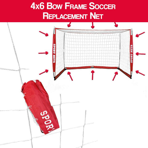 4X6 Bow Frame Soccer Net Replacement Net