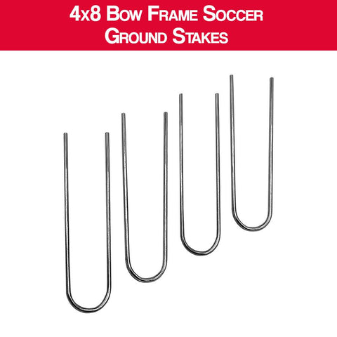 4x8 Bow Frame Soccer Net Replacement Ground Stakes - Set Of 4