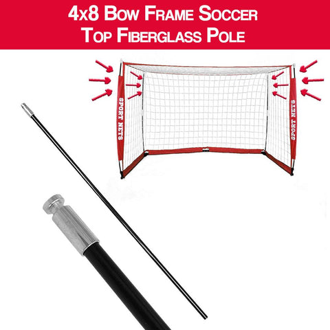 4x8 Bow Frame Soccer Net Replacement Top Fiberglass Pole