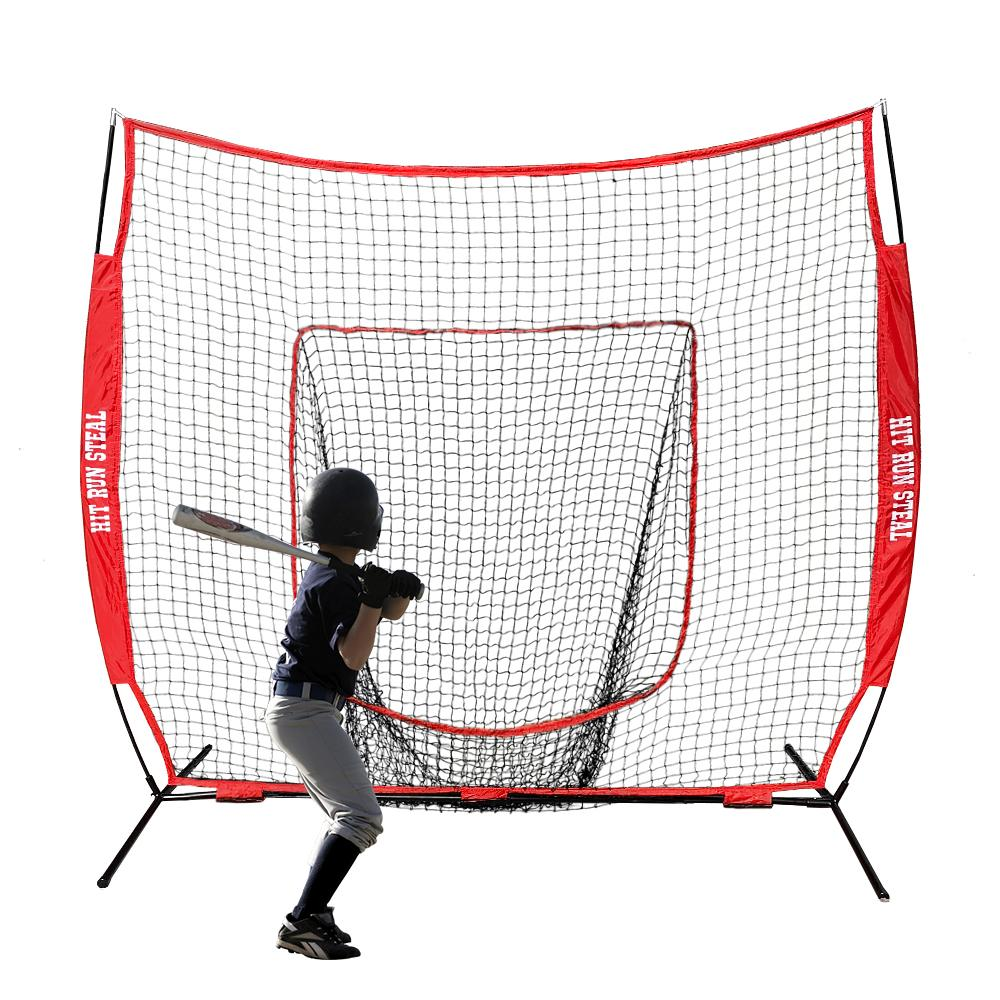 7 x 7 - Fully Edged /& Heavy Duty Baseball Net Net World Sports