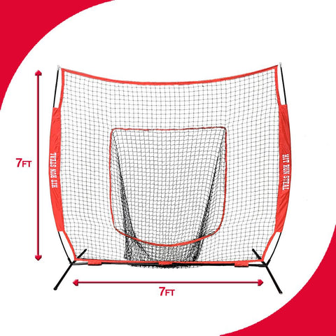 Baseball / Softball Hitting Net with Batting Tee and Strike Zone