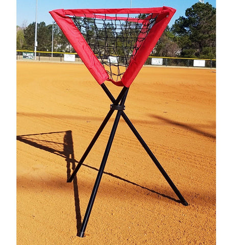 Portable Hitting Net with Travel Tee, Ball Caddy and Strike Zone