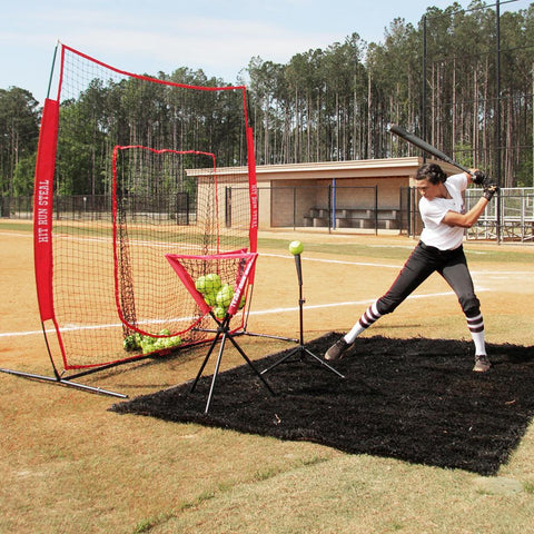 Baseball / Softball Hitting Net With Strike Zone Attachment