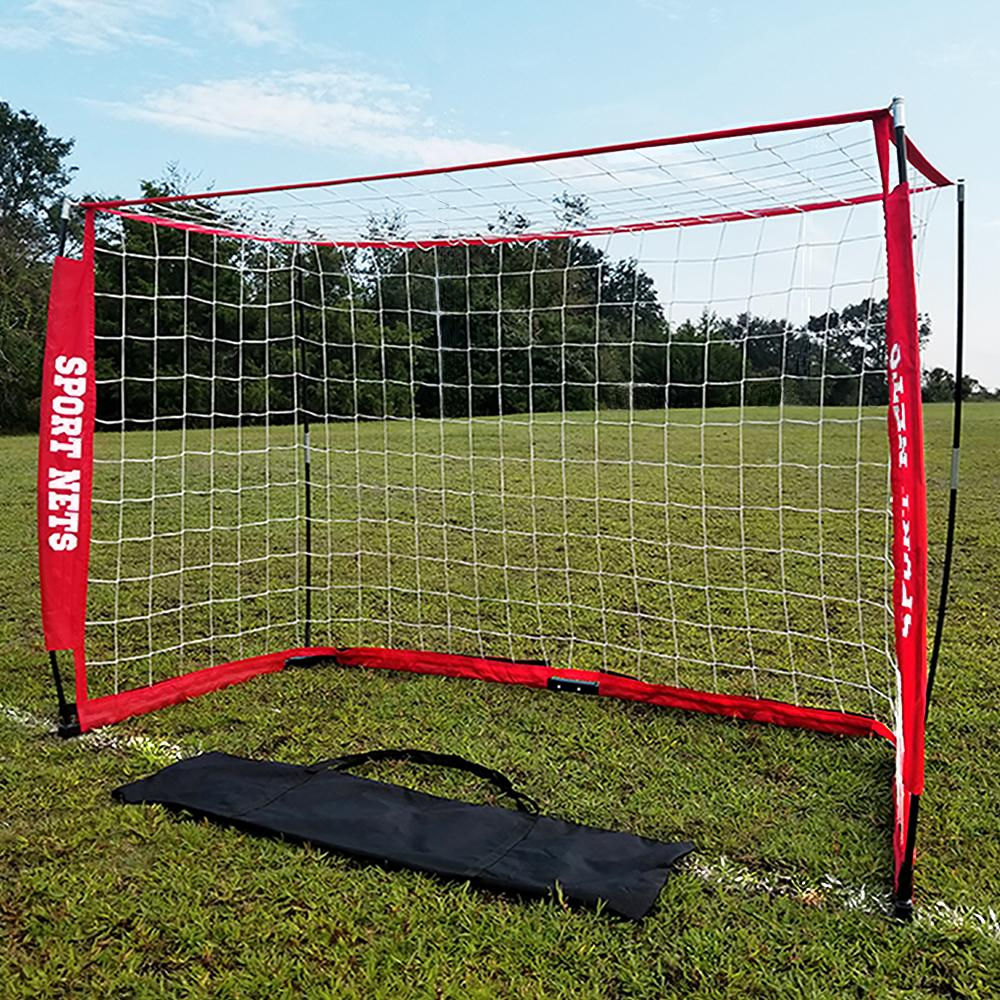 Portable Bow Frame Soccer Net With Carry Bag - 3 Sizes 4' X 6' - 4' X 8' - 6' X 12'