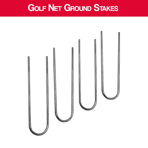 Golf Net Replacement Ground Stakes - Set Of 4