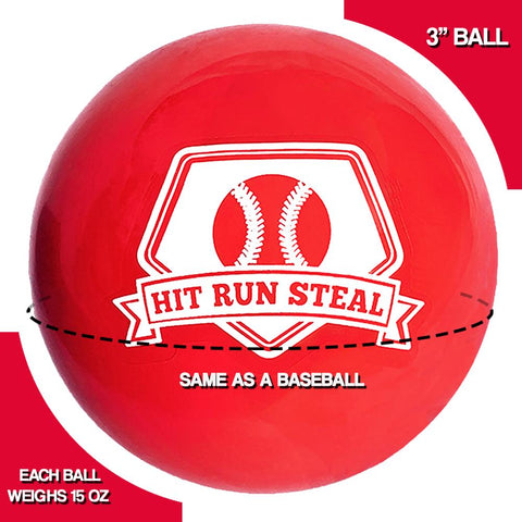 Sport Nets Weighted Practice Balls for Baseball and Softball Batting Practice.  Great Training and Warm Up Hitting Aid