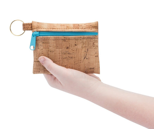 BE ORGANIZED | Key Chain | Rustic Cork + Faux Leather