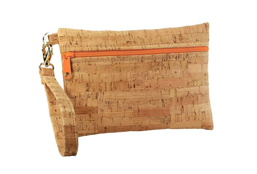 BE READY | Wristlet | Rustic Cork
