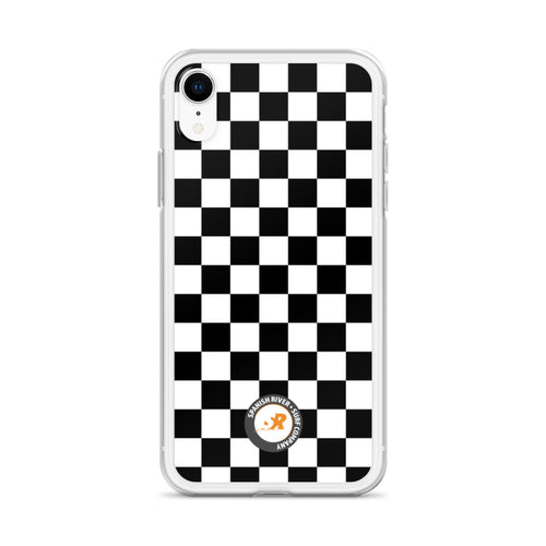 Black and White Checkerboard iPhone Case