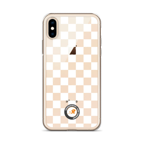 White Checkerboard iPhone Case