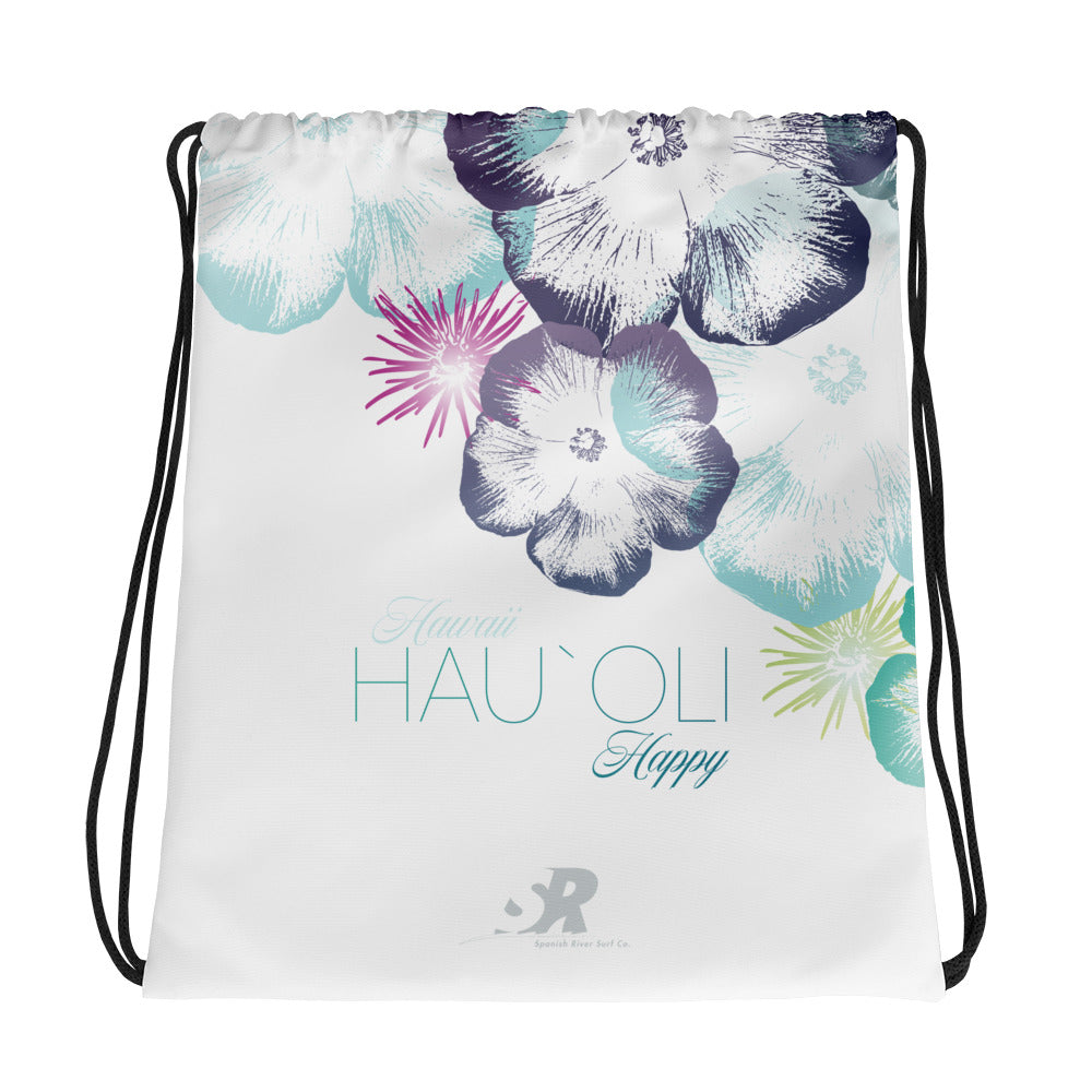 Hawaiian Hibiscus Floral Design Drawstring bag | Tropical Hibiscus Pattern