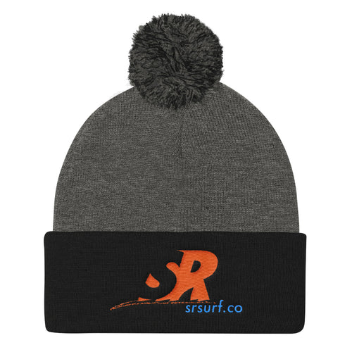 SRSurf Co. Branded Logo - Pom Pom Knit Cap