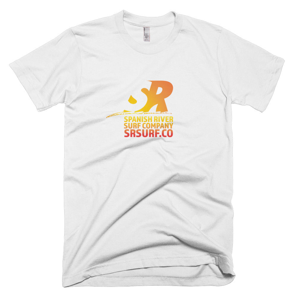Spanish River Retro Gradient Orange Short-Sleeve T-Shirt