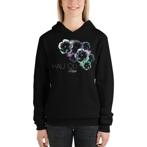 Hawaiian Hibiscus Floral Design Women's Cozy Hoodie | Tropical Hibiscus Flower Pattern
