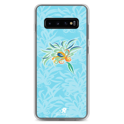 Sky-Blue Floral Art EarthFlower Design Samsung Case