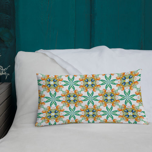 EarthFlower Pattern Premium Pillow