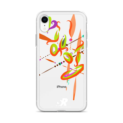 Spark Orange Contemporary Vibrant iPhone Case