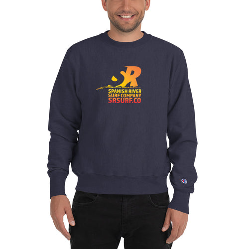 Spanish River Retro Gradient Orange Champion Sweatshirt