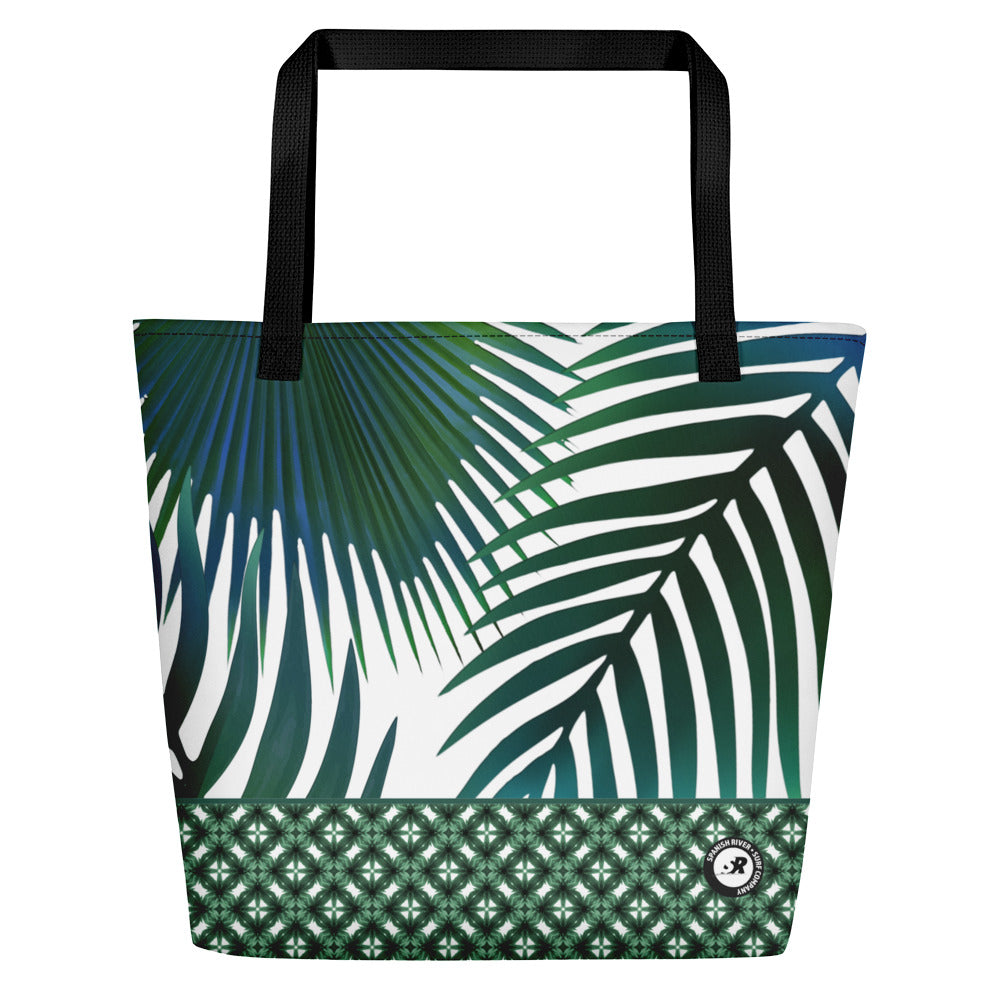 Tropical Palms Beach Bag