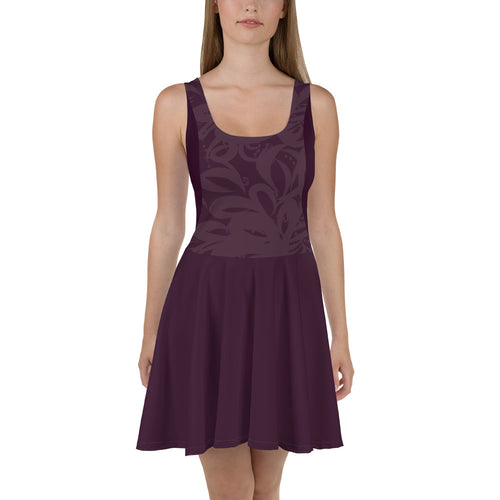 EarthFlower Pattern Skater Dress