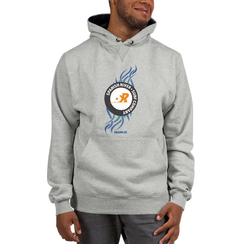 Tribal Inspired Design Logo Champion Hoodie | Spanish River Surf Co.