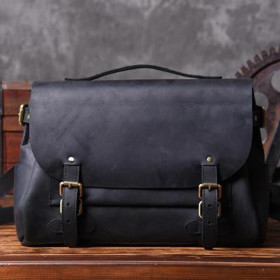 Handmade Black Leather Messenger Bag Men s Handbag Laptop Bag Travel Bag  MT601 - designerhandbags 34226a5d8