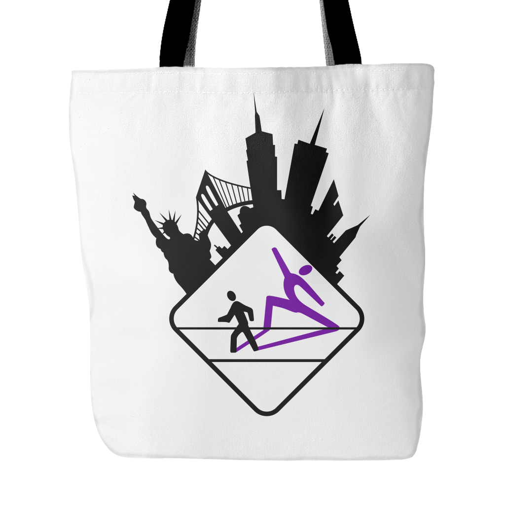 Pedestrian Wanderlust Tote Bag (Black or White)