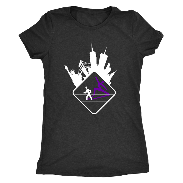 Pedestrian Wanderlust Next Level Ladies Triblend T-Shirt (Black or Gray)