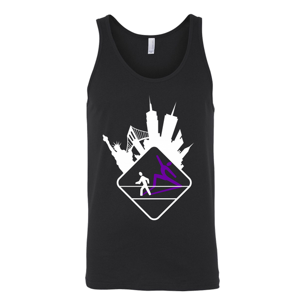 Pedestrian Wanderlust Canvas Unisex Tank (Black or Gray)