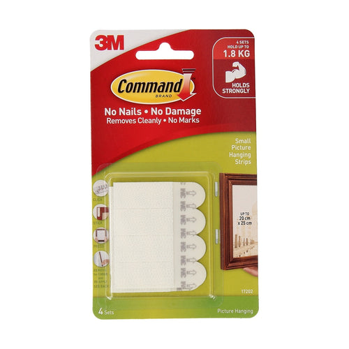 3M Command Picture Strips Small - 4 Pack