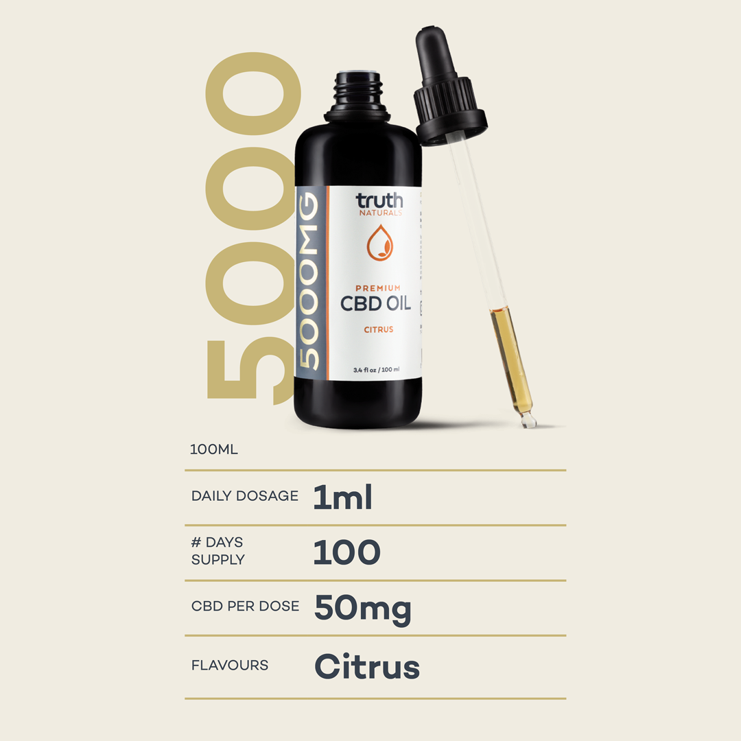 Tincture Platinum – 5000mg CBD Oil | 100ml