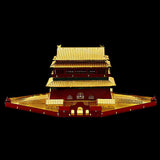 3D Metal Puzzle Drum Tower Model Kits