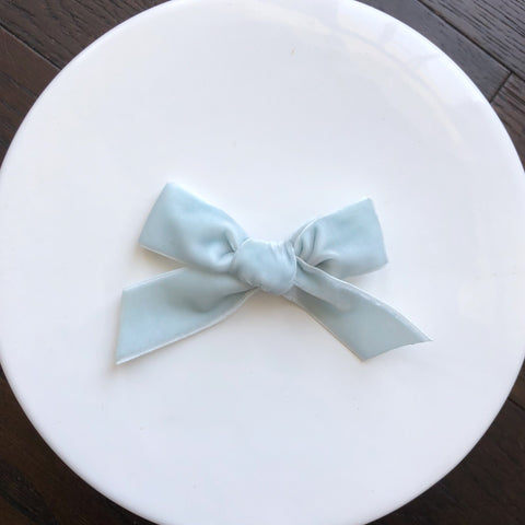 Cool Mint Velvet Bow