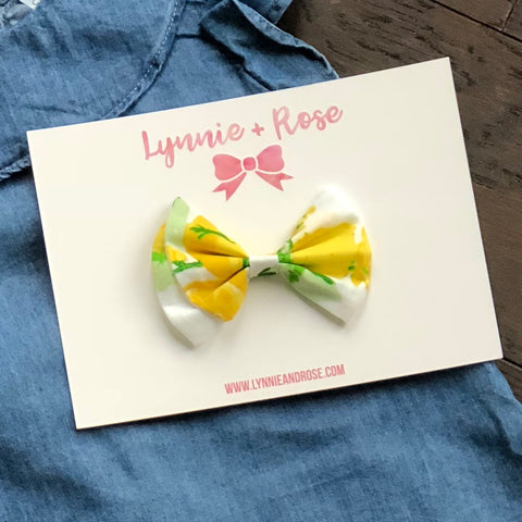 Linen Lemon Drop Bow