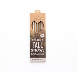 Caliwoods Stainless Steel Tall Straws