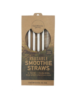 CaliWoods Smoothie Stainless Steel Straws