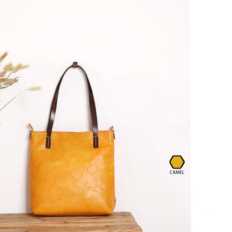 ... Handmade Top Grain Leather Bag Tote Bag Handbag Shopper Bag Gift Back  to school tote QY120 ... 13cae338b3ec6