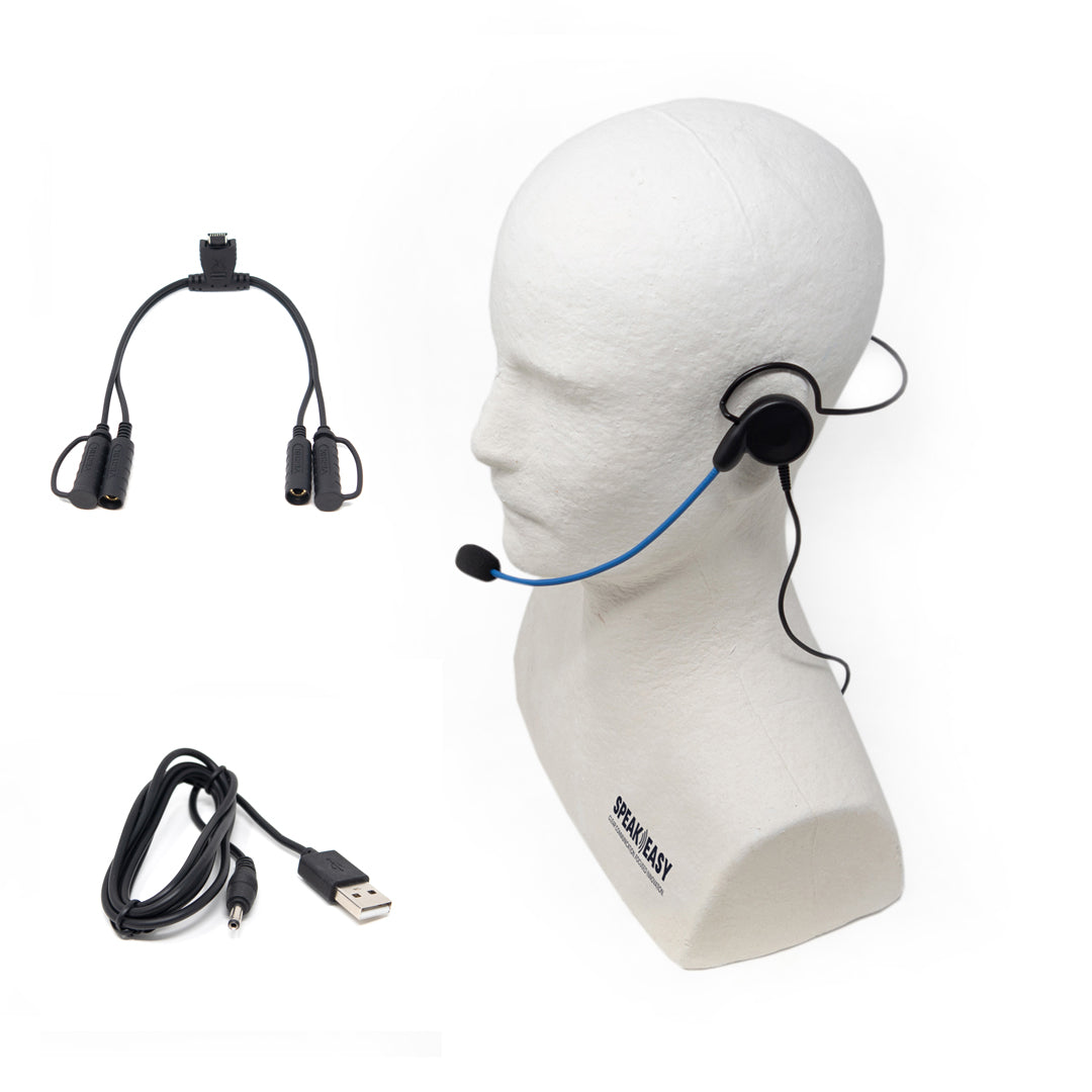 Actio PRO-C Single-Speaker Headset with Mic Accessory Pack