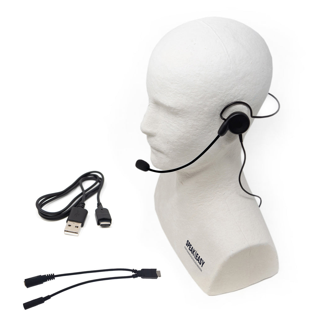 Actio Single-Speaker Headset with Mic Accessory Pack