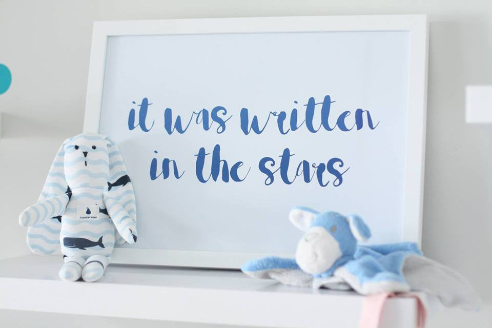 'Written in the Stars' Foil Print