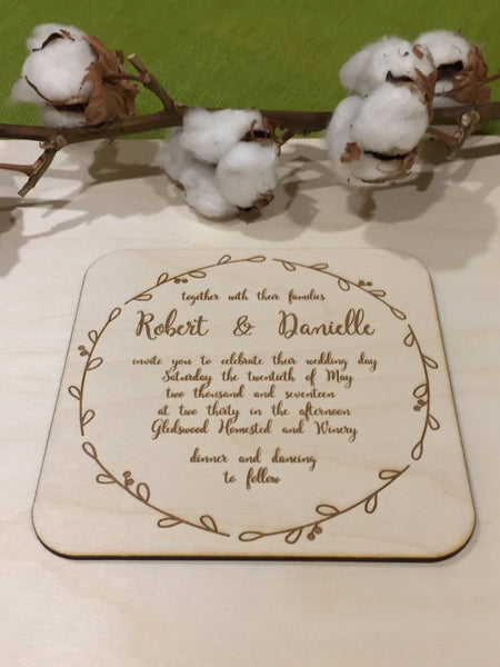 Wooden Invitations