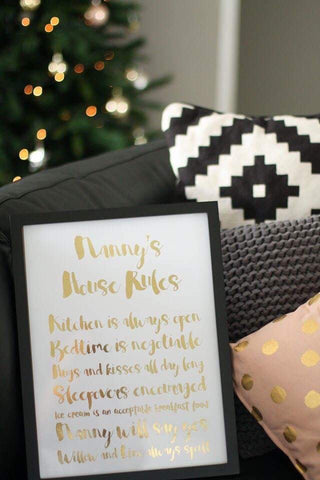 House Rules Foil Print