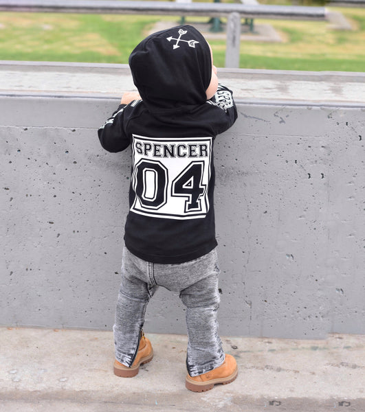 Basic Name Long Sleeve Hoodie (Children's)