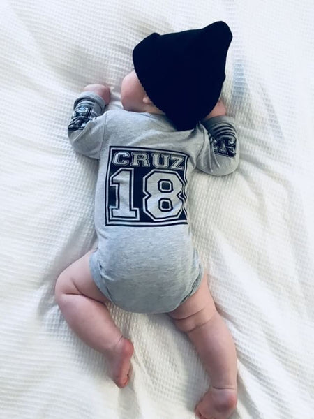 Long Sleeve Name Onesies