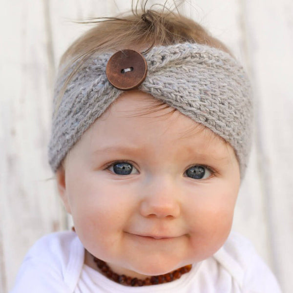 Baby Woollen Button Headband