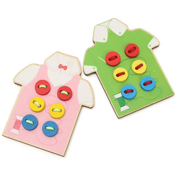 Sewing Buttons Wooden Toy Shirt (2 - 4 y/o)