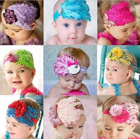 Beautiful Babies Feather Headbands