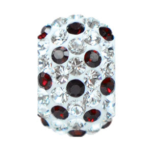 1871 | Sparklies® - White w/ Siam Red Polka Dots