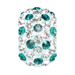 1875 | Sparklies® - White w/ Emerald Green Polka Dots