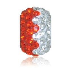 2757 | Sparklies® - Orange & White Zig-Zag